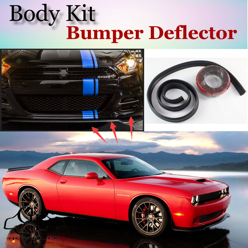 Bumper Lip Deflector Lips For Dodge Challenger SRT MK3 2008~2015 Front Spoiler Skirt For Top Gear Fans Tuning / Body Kit / Strip<br><br>Aliexpress