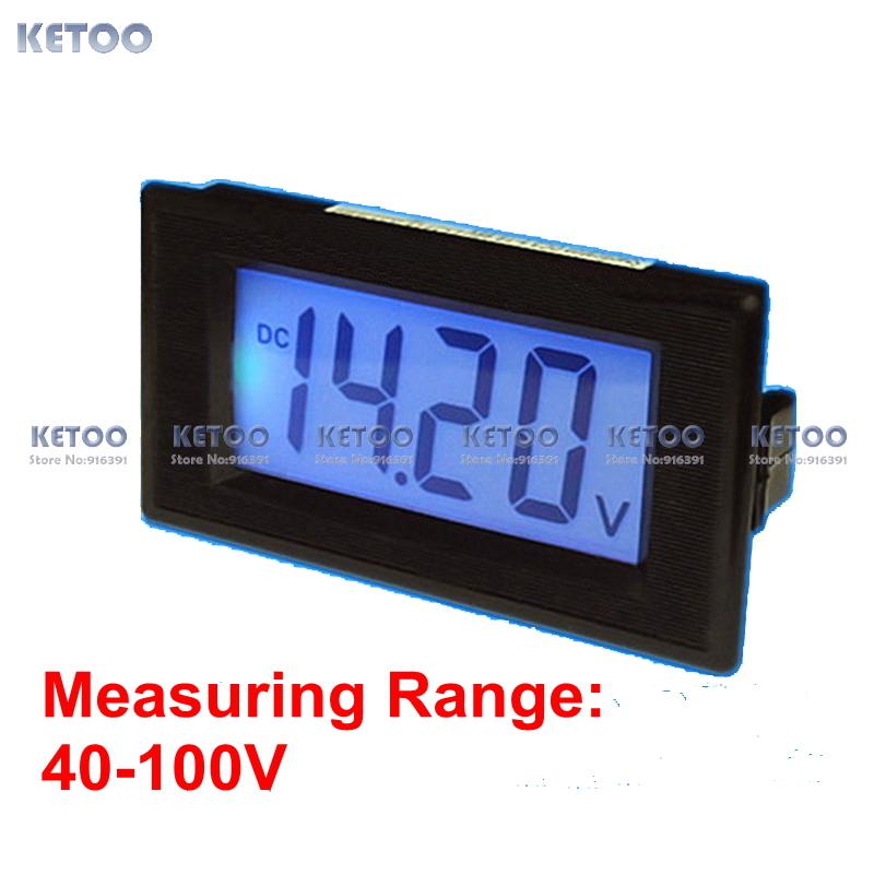 Car battery monitor lcd display volt voltage panel meter voltmeter digital DC40-100V free shipping(China (Mainland))