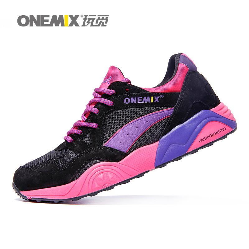 Free Shipping Woman Running Shoes For Women Nice Retro Run Athletic Trainers Purple Zapatillas Sports Shoe Walking Sneakers