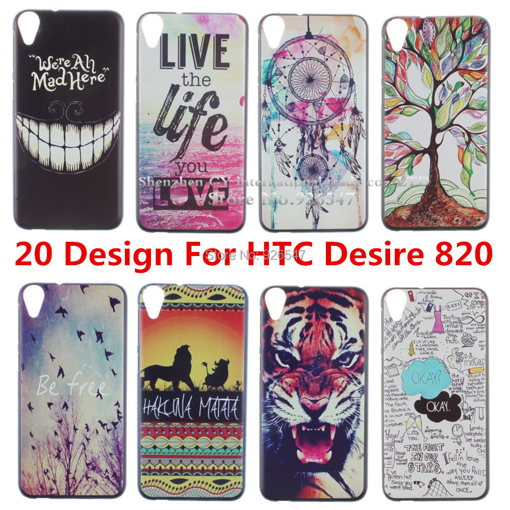 Design Pattern Black Side Cover Hard Case Fit HTC Desire 820 D820U 1 piece - Shenzhen CY group co., LTD store