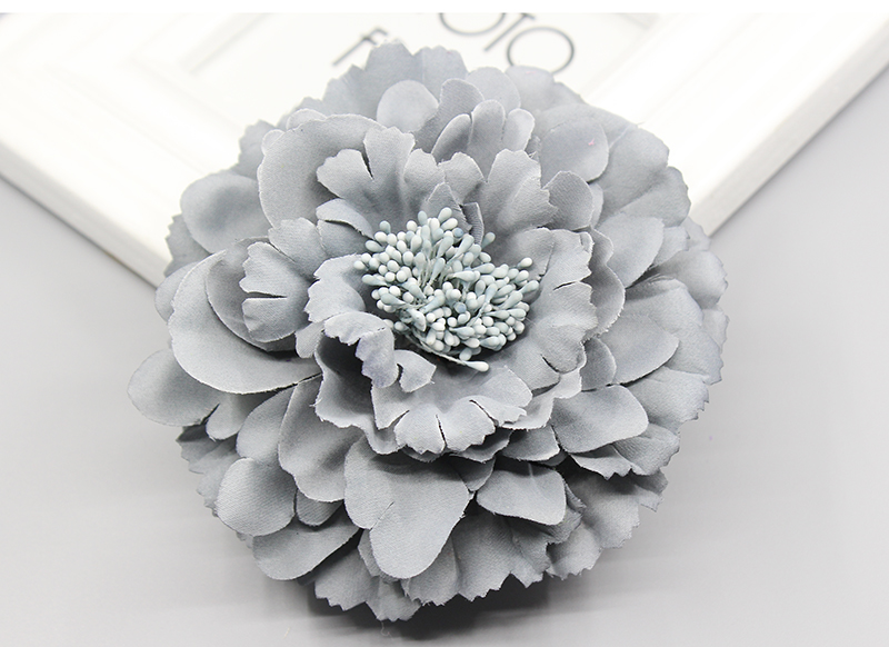 Korea trendy Fabric Blooming peony Flower Corsage Brooch woman Hair Decorations & Brooch wedding party Hair Clip Bridal Wedding(China (Mainland))