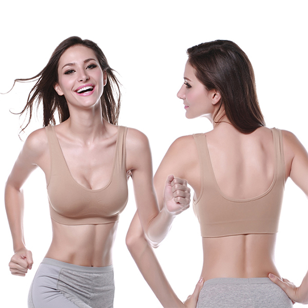 Women Ladies Sports Vest Bra Tops Underwear Seamless Slim Casual Push Up Bra Size M-XL for(China (Mainland))
