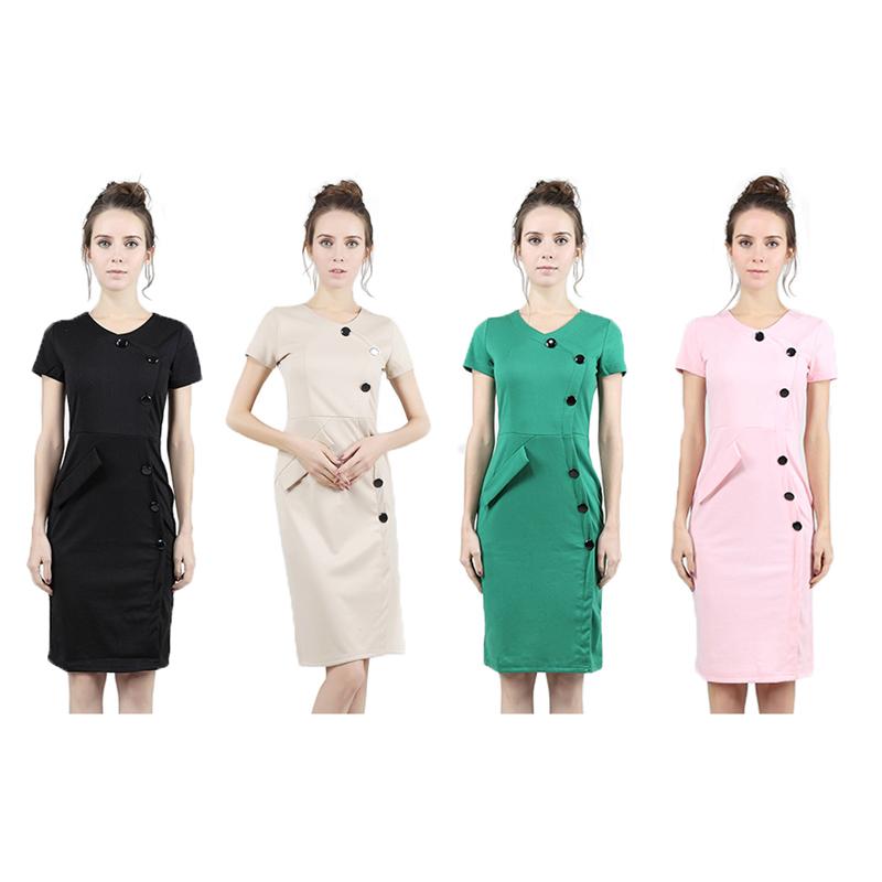 New Lady Slim Bodycon Workwear Evening Slim Sundress Fashion Bandage Above Knee Virtuous Stud Decor Women
