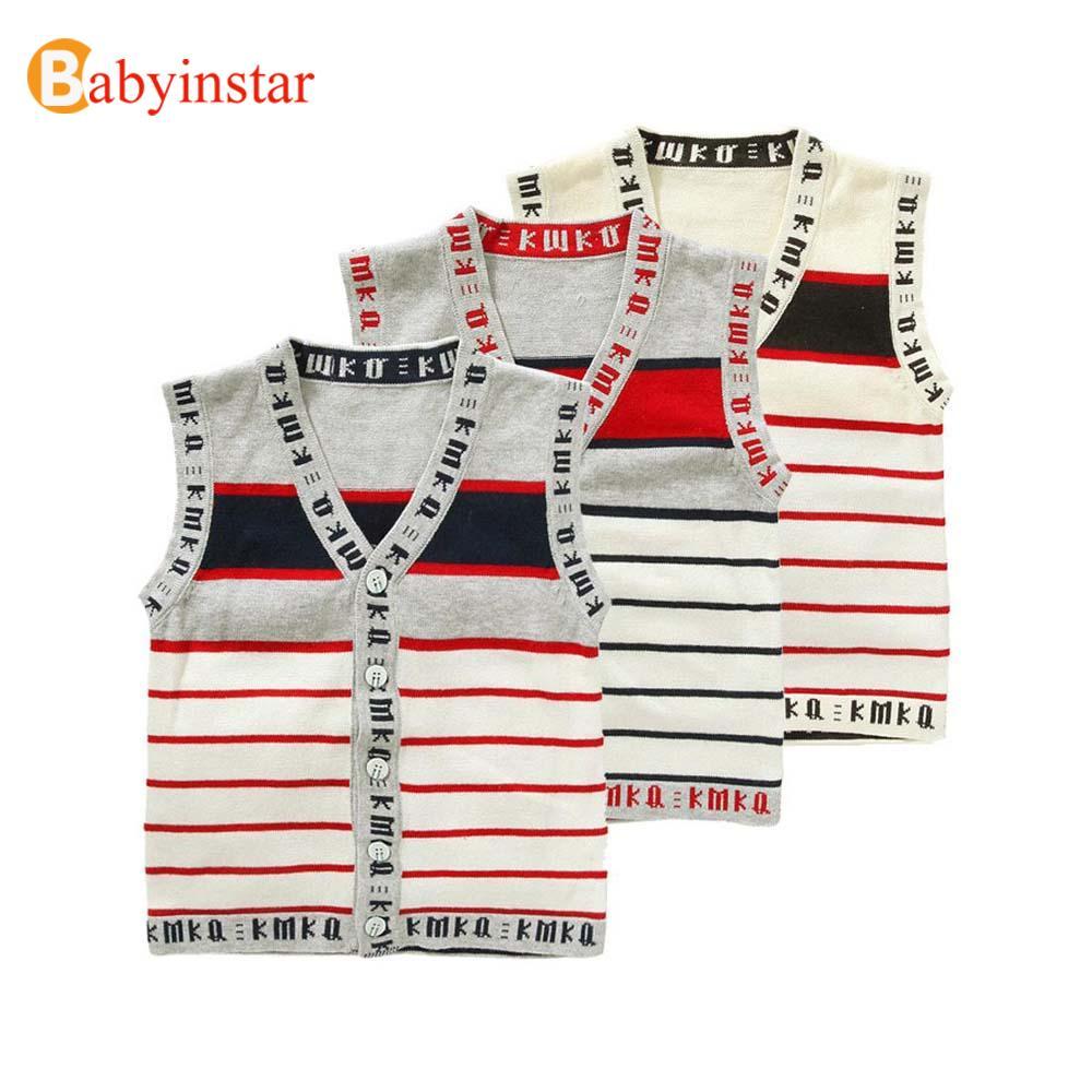 New 2016 Spring Boys Girls Sweater Roupas Infantis Menino Fantasia Baby Striped Sweater Vest Kids Clothes Baby Girls Sweater(China (Mainland))
