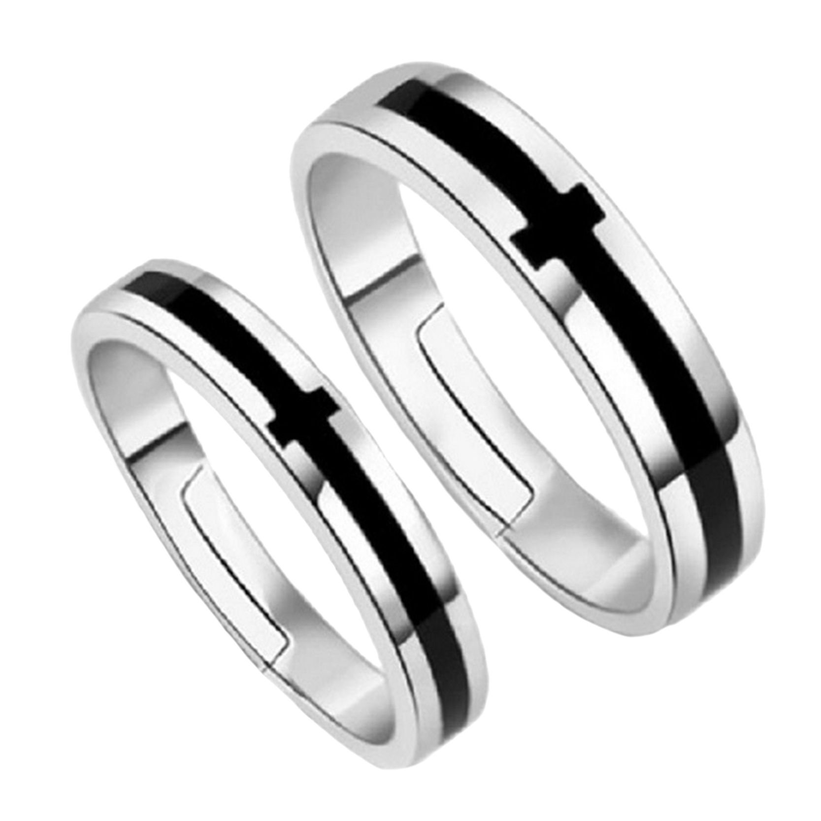 His And Hers Black Wedding Rings synrgyus