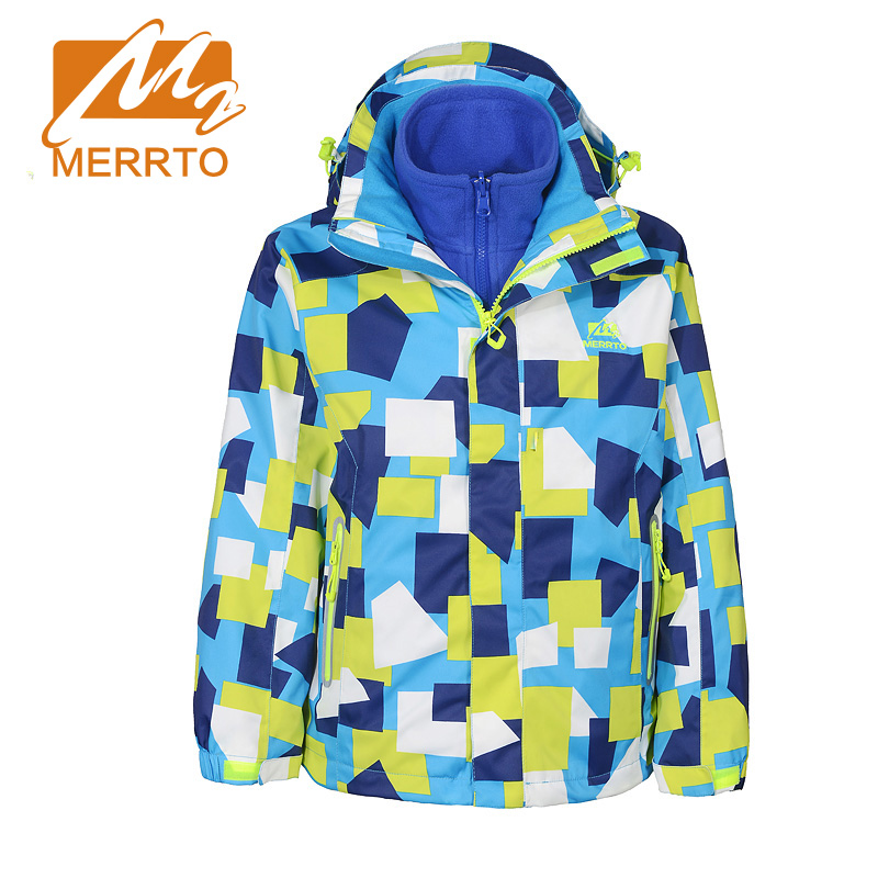 MERRTO Autumn Winter Outdoor School Boys Jackets Hiking Coat Kinds Waterproof Boy Coat Printing Two Pieces Camping Jackets#19113(China (Mainland))