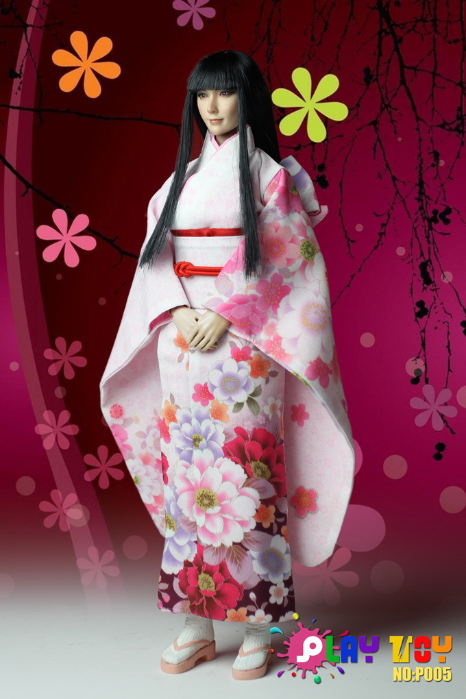 """1/6 scale action figures Female doll Super flexible 12"""" Japanese kimono girl model,Soldiers finished product Collection Toy(China (Mainland))"""