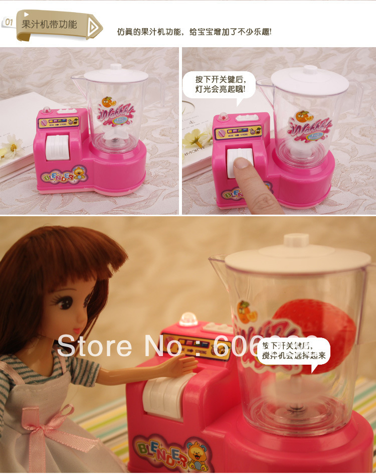 Bobie doll suit dream kitchen fitted kitchen cutlery sets children's toys wholesale(China (Mainland))