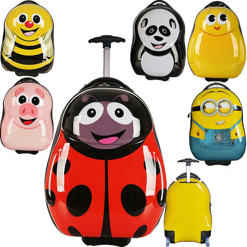 Ru Domestic Delivery 3d Children Trolley School Bags Kids
