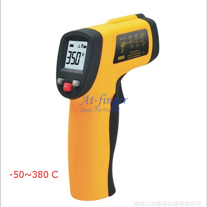 WHOLESALE LCD Non-Contact Digital Infrared IR Thermometer With Laser -50~+380C Digital Thermometer Free Shipping<br><br>Aliexpress