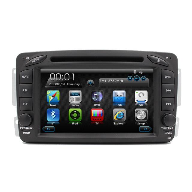 "Free Shipping HD 7"" Touch Screen Car DVD Player for Mercedes Benz W203 W208 W209 W210 W463 Vito Viano Autoradio GPS Navigation(China (Mainland))"