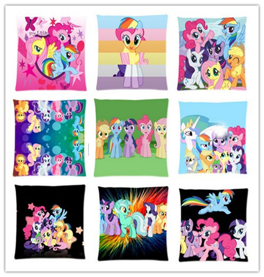 Pink Cute My Little Pony Custom Made Personalized Throw Pillows Cushion Case Cover Size 16x16, 18x18,20x20,24x24 inch(China (Mainland))