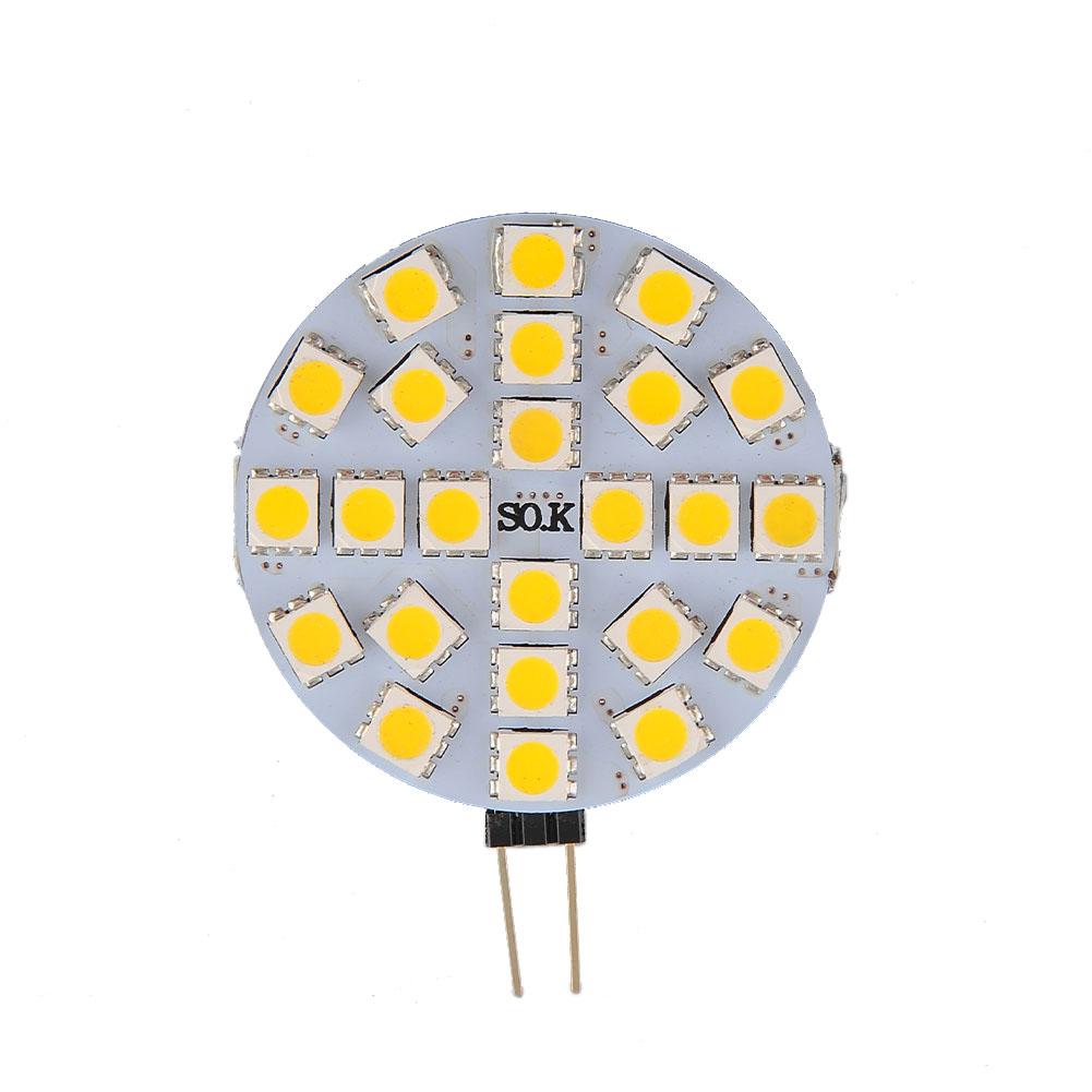 1X G4 Warm white 24-5050 SMD Saving Efficient Effective DC 12V LED Spotlight No shadow Bulb Lamp Light(China (Mainland))