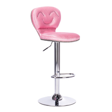 restaurant stool Pink color free shipping