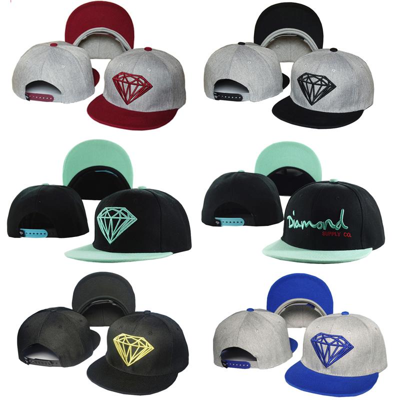 New Diamond Snapback Hat Snapback Cap Hip Hop Hat Baseball Cap Fashion Hat Sport for Men Women Cap Adjustable Free Shipping(China (Mainland))