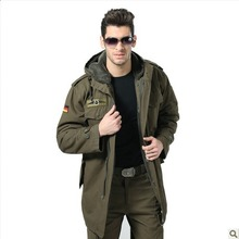 HOT ! Autumn and winter coat outerwear men's clothing fourposter thermal trench german military camel fleece overcoat / M-3XL(China (Mainland))