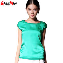 Summer women blouses 2016 new casual chiffon silk blouse slim sleeveless O-neck blusa feminina tops shirts solid 6 color  Y048(China (Mainland))