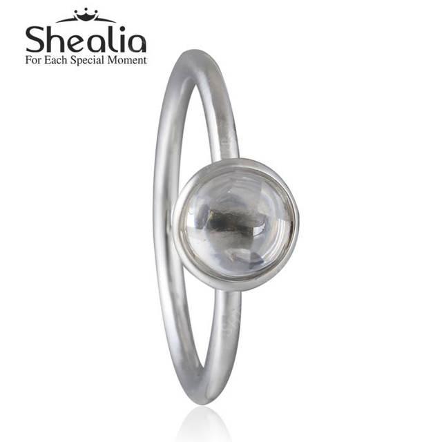 2016 весной новый стерлингового серебра 925 пробы вод-падения кристалл кольца для женщин поэтический капель четкие австрийский хрусталь кольца ювелирных украшений