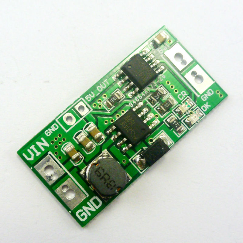 2 in 1 Boost Charger Module & DC DC Step Up Converter DC 2.5V 3V 3.3V 3.7V to 4.2V 5V Charging board DD05CRTA(China (Mainland))