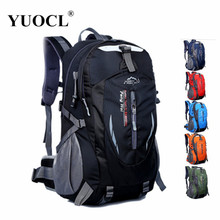 2016 New Waterproof Nylon Hiking Backpack Outdoor Sports Bag Rucksack Mountaineering Bag Men's Travel Bags Backpack 7 color(China (Mainland))