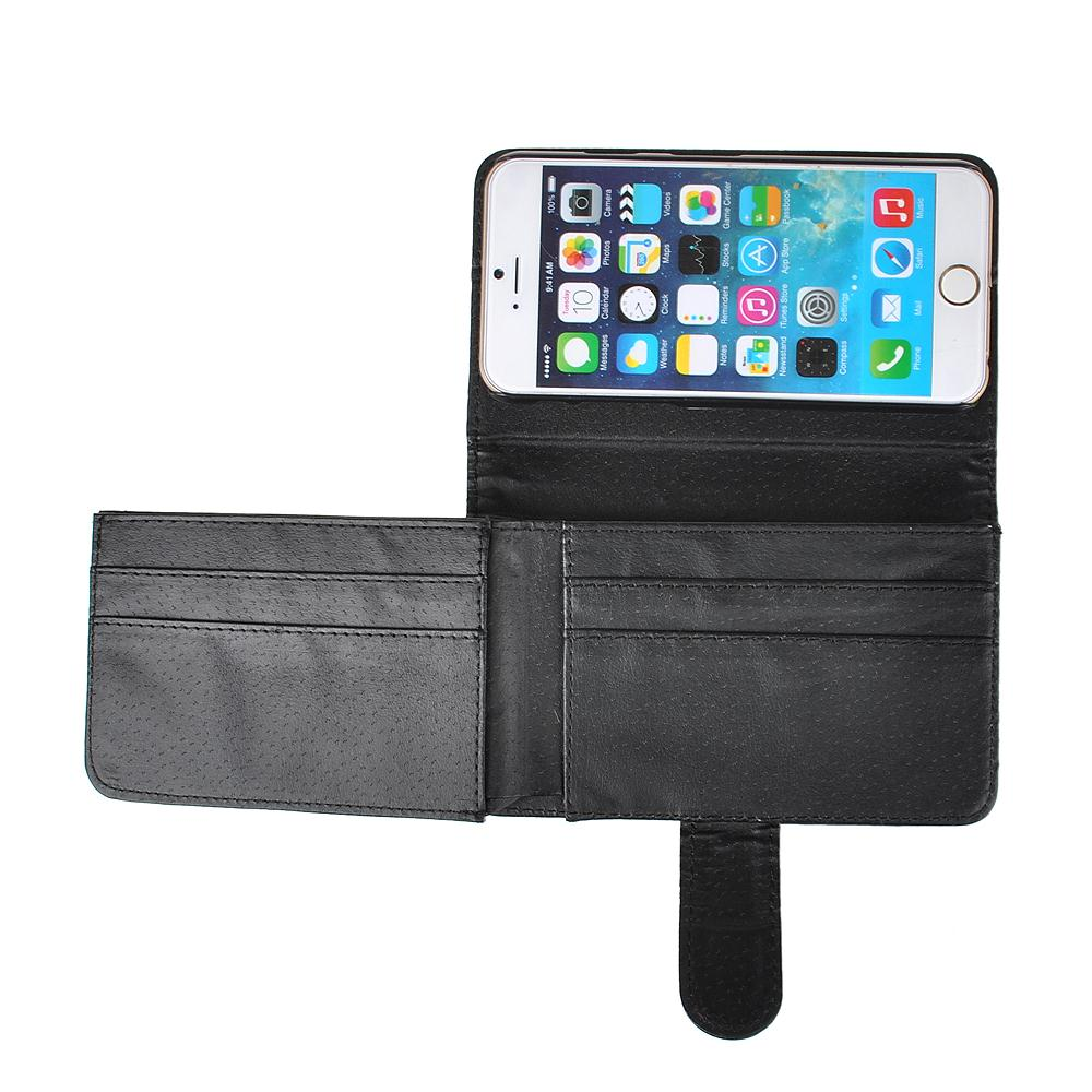 Hot Leather Pouch package money Clip Case Holster can make stand watch movie For Apple iPhone 6 4.7 Free Shipping(China (Mainland))