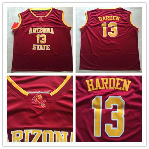 James Harden 13 Arizona State Sundevil NCAA College Basketball Jersey,Embroidery logos,Free Shipping(China (Mainland))