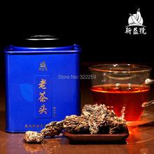 [GREENFIELD] 2008 YR Genuine Certified Yunnan Old Pu erh Tea LaoChaTou Lao Cha Tou Ripe Shu Cooked Pu'er Er 200g Tinned - GRANDNESS TEA CO.,LTD. store