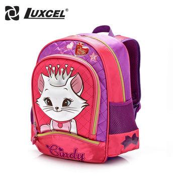 Creative 3D Kindergarten Cindy Girl school bag Cat Animation Escolar mochila kid cartoon backpack children