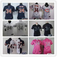 Signature 2016 Women Chicago Bears, 34 Walter Payton Kyle,17 Alshon Jeffery 22 Matt Forte Orange navy,()