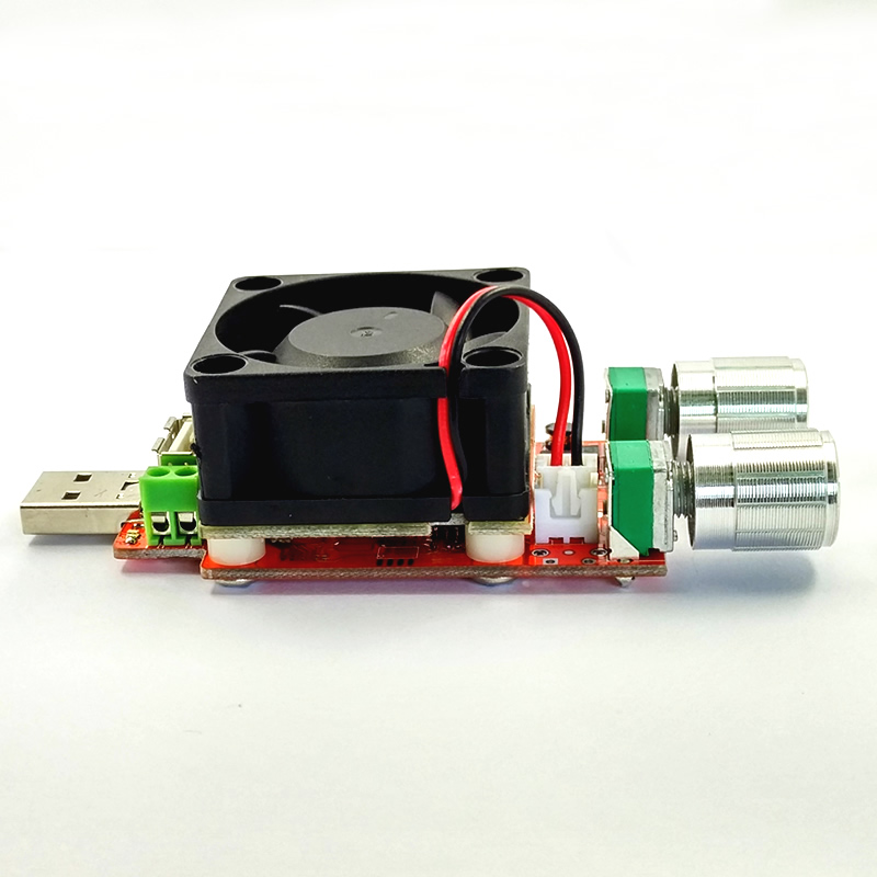 25 w Industrial Grade Electronic Load resistor USB Interface Discharge battery test capacity with fan adjustable current