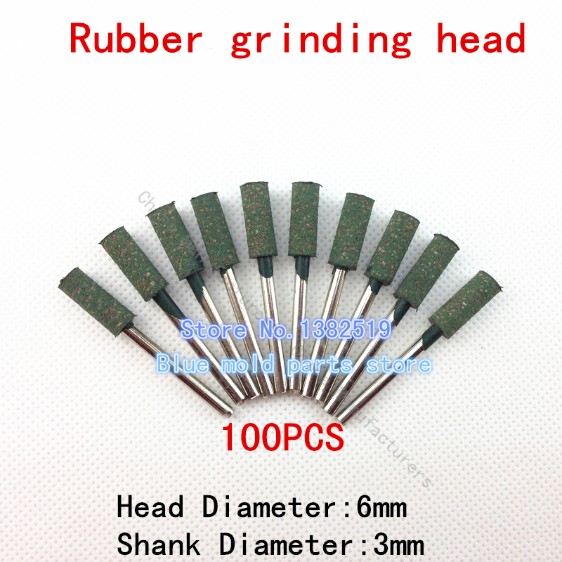 Sale Belt Sander Tools 100pcs New Rubber Wheels Flint Aberdeen 6mm Diameter Cylindrical Head Polished Metal