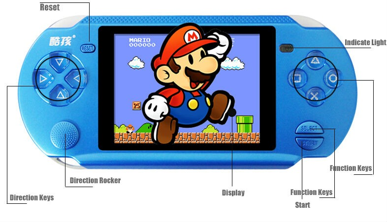 Original Coolbaby RS-13 Video Games 3.8 inch player handheld game console  support  AV External handles jeux 8BIT free shipping