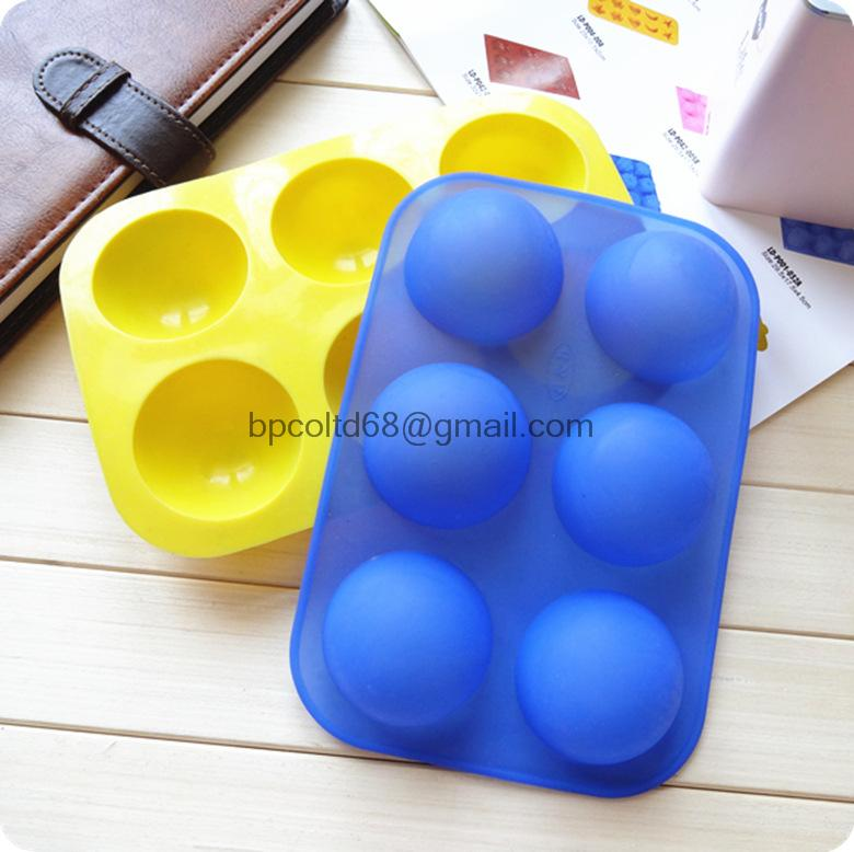 Гаджет  MIN ORDER AMOUNT $10.0   Silicone Cake mould 6 hole half-sphere shape handmade soap mold silicone chocolate molds None Дом и Сад