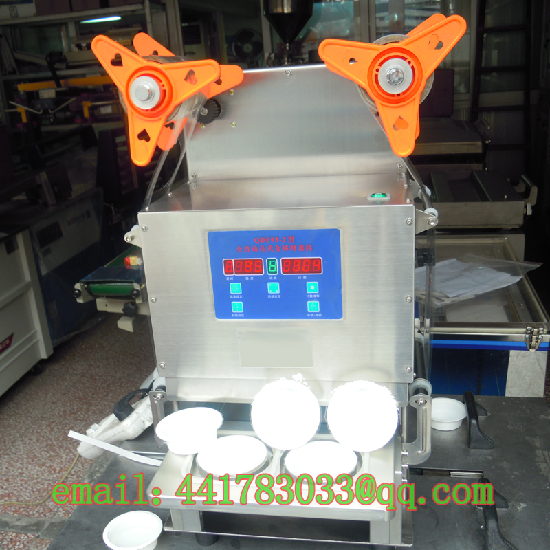 Automatic capping machine a two jelly food automatic cup sealer sealing machin sealer trays automatic cup sealer Stainless steel(China (Mainland))