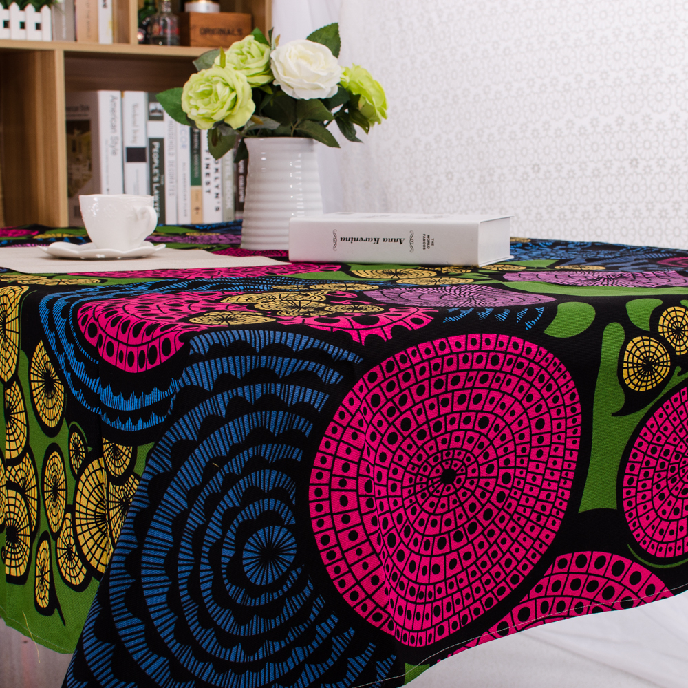 2015 New Special Offer Freeshipping 100% Floral Printed Table Ethnic Style Vintage Tablecloths Cover Party Home Toalhas De Mesa(China (Mainland))