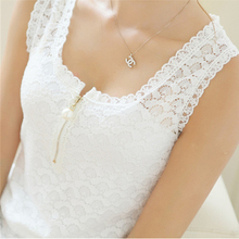 Tank Tops Summer Style Ladies Tube Tops White Lace Blouse Shirt 2016 S-XXXL Fitness Sexy Hollow Out Sleeveless Tank Top Women(China (Mainland))