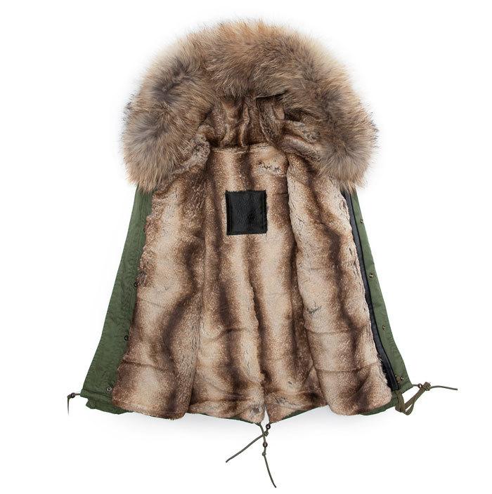 Warming Beaver faux rabbit fur coats short style winter men parka with Raccoon Dog Fur Collar fur jacket hooded mr&mrs(China (Mainland))