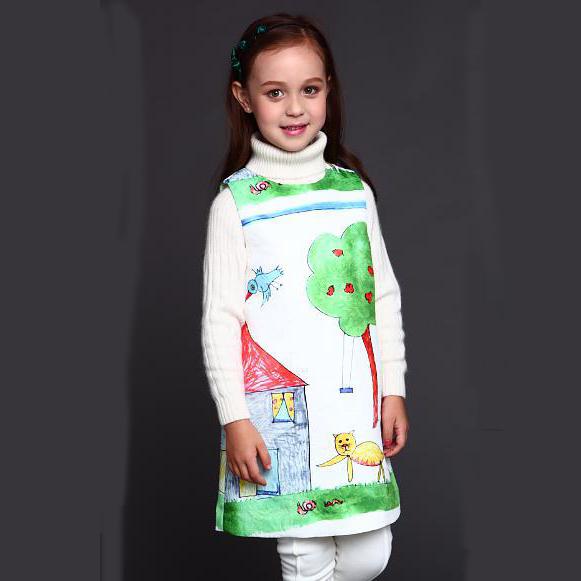 Baby Girls Dresses Princess 2015 Brand Girl Dress Kids Clothes Girls Winter Dress Dobby Luxury Baby Clothing Children Dress(China (Mainland))