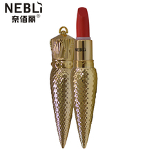 New Long-lasting 24 hours Waterproof Women Girls Beauty Makeup Sexy Lipstick luxury Gold ribbon Lip Balm Birthday Gift to Friend(China (Mainland))