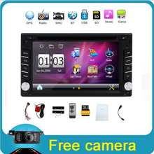 Car Electronic 2 din Car DVD Player GPS Navigation 6.2 inch 2din Universal Car Radio In Dash Bluetooth Stereo Video Free Map(China (Mainland))