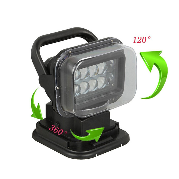 Rotating 50W Cree Led Search Light Remote Control Spot Work Light For Hummer Jeep And Other Off-road Vehicles or Trucks Boat(China (Mainland))