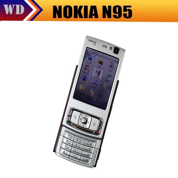 Original Nokia N95 WIFI GPS 5MP 2.6''Screen WIFI 3G Unlocked N95 Mobile Phone FREE SHIPPING 1 Year Warranty(China (Mainland))