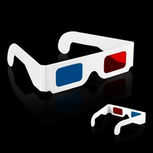 Paper 3D Glasses 3d virtual video View Anaglyph Red Cyan Red/Blue 3d Glass Free shipping 2015 Hot Items!