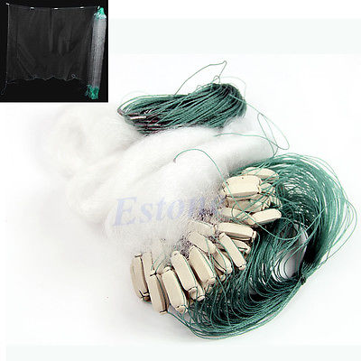 45m Long Clear White Green Monofilament Fishing Fish Gill Net with Float(China (Mainland))