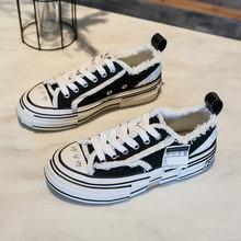 Moipheng 2019 Neue Mode Flache Schuhe Frauen Sexy Nähen Weiß Leinwand Damen Schuhe Turnschuhe Liebhaber Schuhe Plus Größe Zapatos De mujer(China)