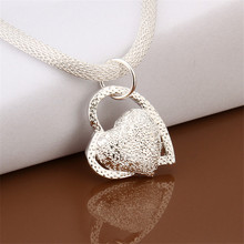 Buy Hot New Fashion Silver Plated Double Heart Pendant Necklace Women Summer Style Sweater Chain Necklace for $1.06 in AliExpress store