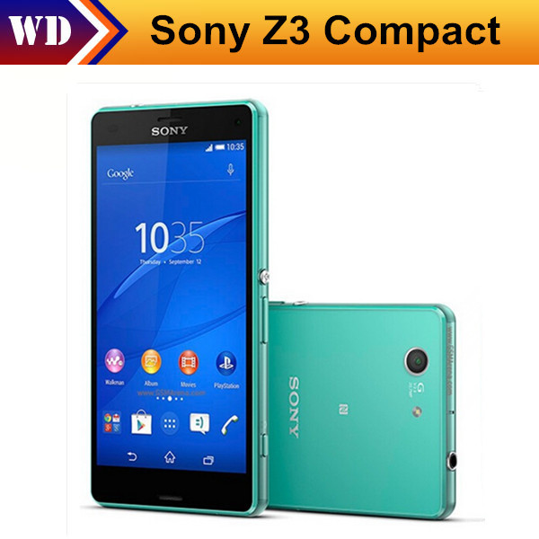 Original Unlocked D5803 Sony Xperia Z3 Compact Mobile Phones 4.6 Inches Touch Screen 20.7MP Camera 16GB ROM(China (Mainland))