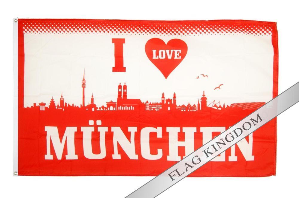 "Flag I Love Munich Football Hissflagge 35.43x59.05""(China (Mainland))"