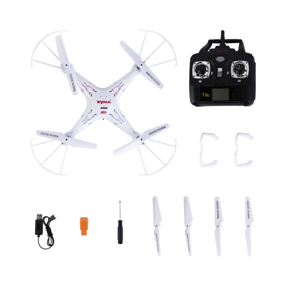 Original Syma X5C Explorers Quadcopter Drone 2.4G 4CH RC Mode 2 With HD Camera LCD RTF(China (Mainland))