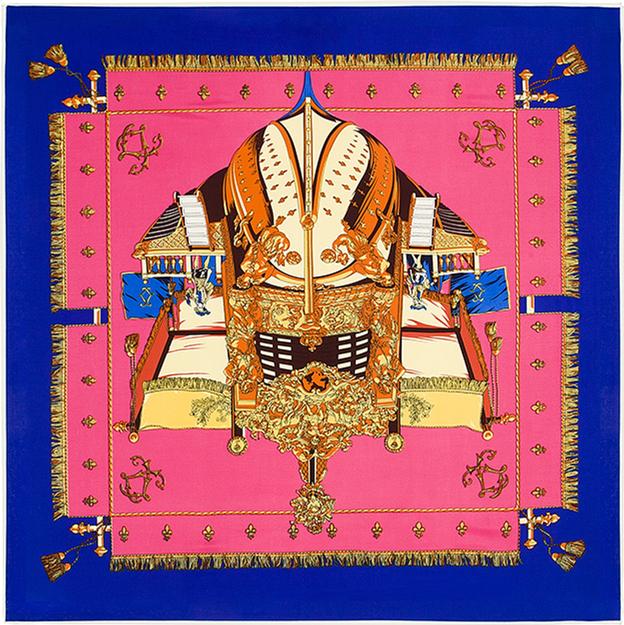 100 см * 100 см 100% саржевые шелковый евро бренд франция военный корабль женщины косынка весна Femal лодка печать шарфы шаль B112